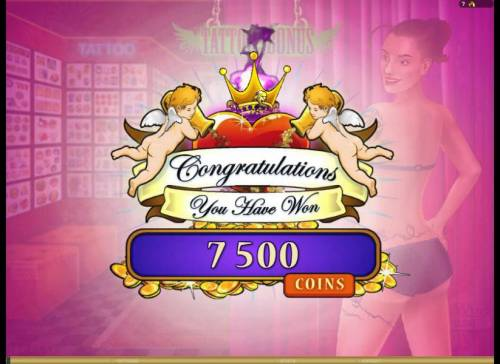 Hot Ink Review Slots the tattoo bonus paid out 7500 credits