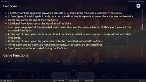 Hotline Review Slots Free Spins Rules