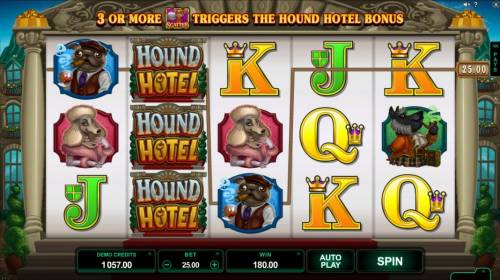 Hound Hotel Review Slots Multiple winning paylines triggers a 180.00 big win!