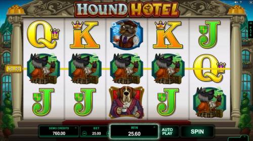 Hound Hotel Review Slots A four of a kind awards a $60 line pay