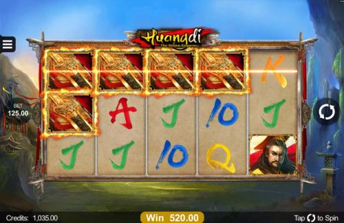 Huangdi The Yellow Emperor Review Slots Multiple winning paylines triggers a 520.00 big win!