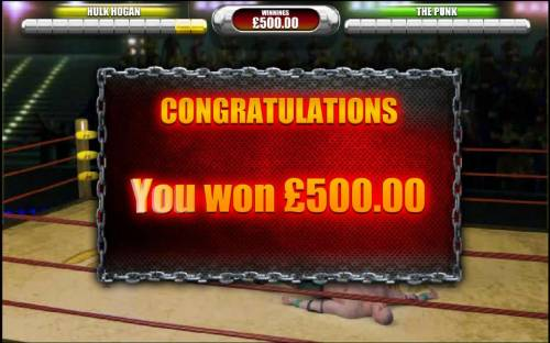 Hulkamania Review Slots the big fight bonus feature pays out a $500 big win