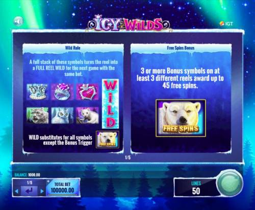 Icy Wilds Review Slots Wild and Free Spins Bonus Rules