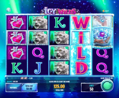 Icy Wilds Review Slots Stacked wild triggers a 125.00 payout. The game pays in both directions, left-to-right and right-to-left