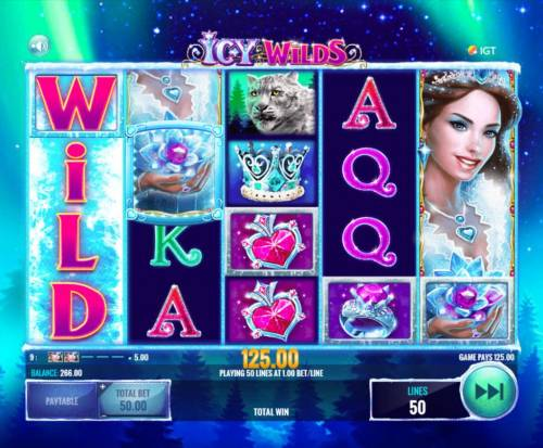 Icy Wilds Review Slots A 125.00 jackpot triggered by winning paylines in both directions.