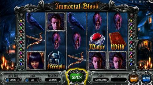 Immortal Blood Review Slots Main Game Board
