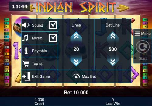 Indian Spirit Review Slots Click on the side menu button to adjust the Lines or Coin Size.