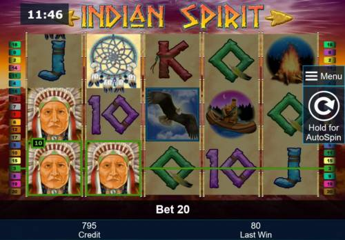 Indian Spirit Review Slots Multiple winning paylines triggers a 4 times bet jackpot win.
