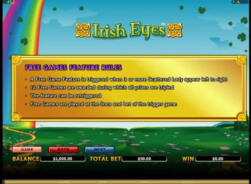 Irish Eyes Review Slots free games feature rules