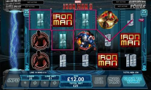 Iron Man 3 Review Slots three scatter symbols triggers hall of armour free games feature