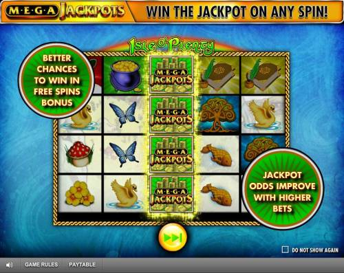 Isle of Plenty Review Slots better chances to win in Free Spins Bonus. Jackpot adds improved with higher bets.