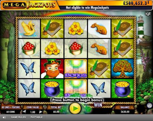 Isle of Plenty Review Slots 2 Bonus symbols on center reel triggers the Free Spins Feature.