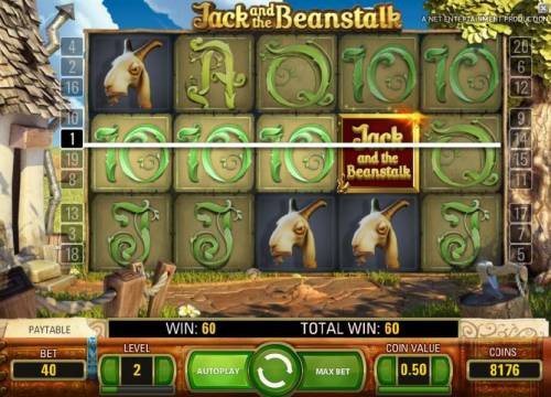 Jack and the Beanstalk Review Slots walking wild triggers a 60 coin jackpot