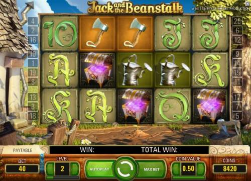 Jack and the Beanstalk Review Slots three scatter symbols triggers 10 free spins