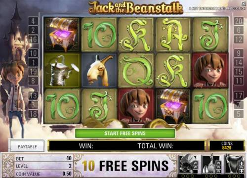 Jack and the Beanstalk Review Slots free spins feature game board