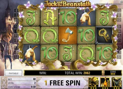 Jack and the Beanstalk Review Slots we collected all nine gold keys during the free spins feature and have one free spins to go