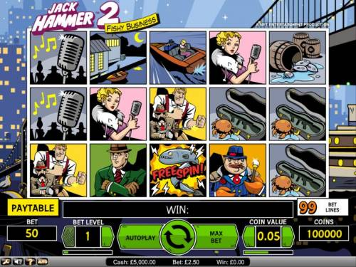 Jack Hammer 2 - Fishy Business Review Slots Jack Hammer 2 Fishy Business slot game board