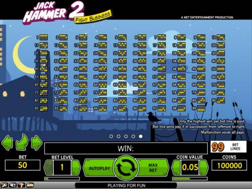 Jack Hammer 2 - Fishy Business review on Review Slots