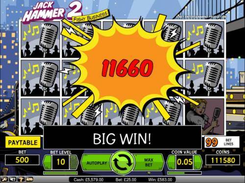 Jack Hammer 2 - Fishy Business Review Slots Jack Hammer 2 Fishy Business slot game big win payout screen