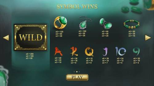 Jade Charms Review Slots Slot game symbols paytable.