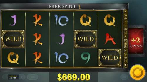 Jade Charms Review Slots An additonal 2 free spins are awarded player.