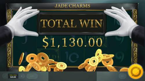 Jade Charms Review Slots Total Free Spins Payout Award 1,130.00