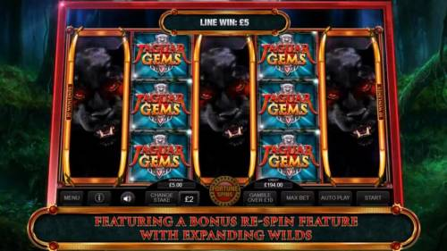 Jaguar Gems Review Slots Game features a bonus re-spin with expanding wilds