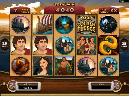 Jason and the Golden Fleece Review Slots Spinning