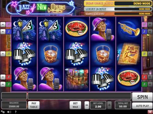 Jazz of New Orleans Review Slots Main Game Board
