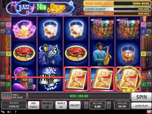 Jazz of New Orleans Review Slots A winning Three of a Kind