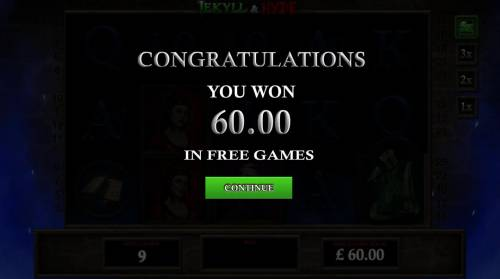 Jekyll & Hyde Review Slots Free Games pays out a total of 60.00