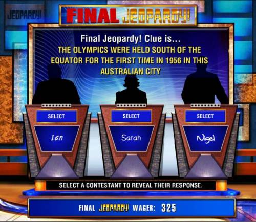 Jeopardy Review Slots Shold you decide to wager a portion of your winnings, you will have to select the correct answer from one of the players.