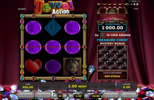 Jewel Action Review Slots Multiple winning paylines