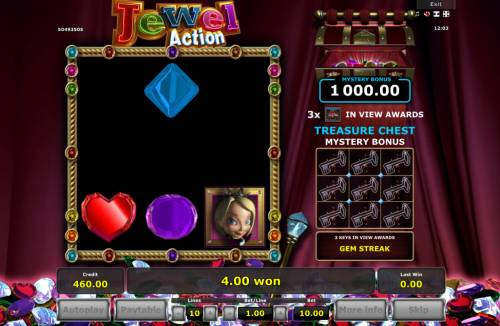 Jewel Action Review Slots Winning symbols are removed from the reels