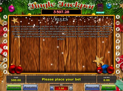 Jingle Jackpot Review Slots General Game Rules