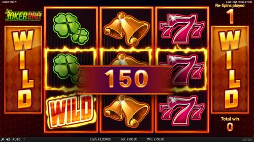 Joker Pro Review Slots A 150 coin jackpot awarded during the Re-Spins feature.