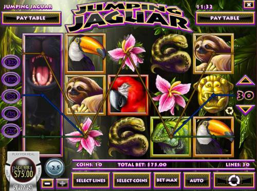 Jumping Jaguar Review Slots Multiple winning paylines