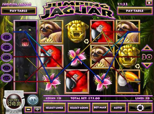 Jumping Jaguar Review Slots Multiple winning paylines triggers a big win!