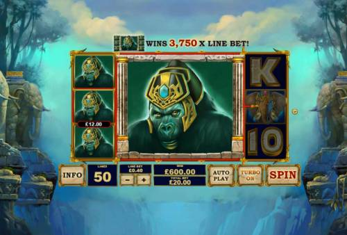 Jungle Giants Review Slots Multiple winning paylines triggers a big win!