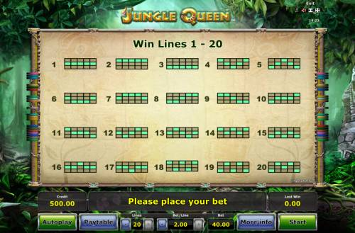 Jungle Queen Review Slots Paylines 1-20