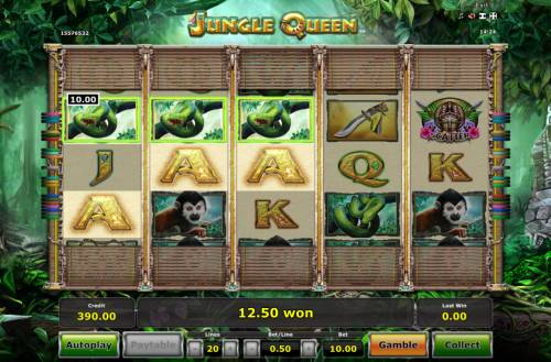 Jungle Queen Review Slots A winning three of a kind