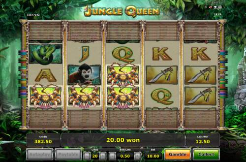 Jungle Queen Review Slots Three of a Kind