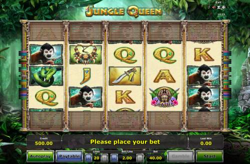Jungle Queen Review Slots Main Game Board