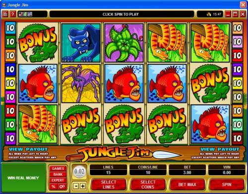 Jungle Jim review on Review Slots