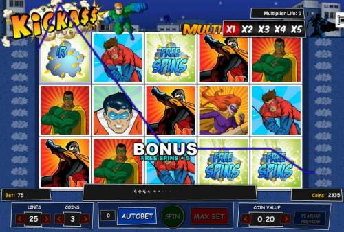Kick Ass review on Review Slots