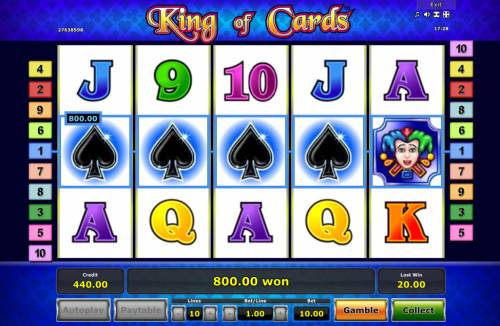 King of Cards review on Review Slots