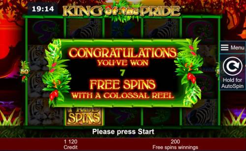 King of the Pride Review Slots & free spins with a colossal reel