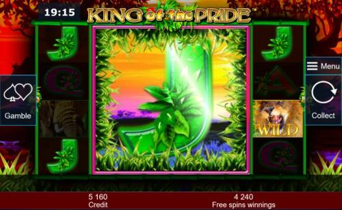 King of the Pride Review Slots Colossal reel triggers a 2,070 big win during the free spins feature.