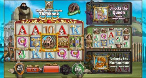 Kingdom of Wealth Review Slots Monk on the throne unlocks the Monk feature