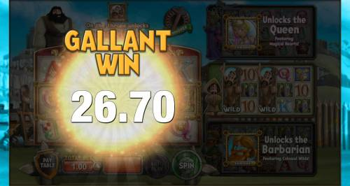 Kingdom of Wealth Review Slots Monk feature pays out a total of 26.70